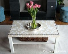 Elegant DIY Coffee Table -- uses any kind of wallpaper you want!
