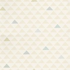 Mason Blue/Green (AMA 03) - John Morris Wallpapers - A block print effect with triangles laid out in a geometric pattern with occasional coloured highlights. Shown in the grey, blue and green on stone white. Please request sample for true colour match.