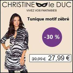 #missbonreduction; Déstockage : remise de 30 % sur la Tunique motif zébré chez Christineleduc.http://www.miss-bon-reduction.fr//details-bon-reduction-Christineleduc-i858720-c1833260.html