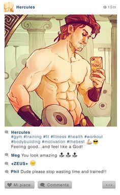 Hércules mostra como os 12 trabalhos lhe renderam uma boa forma