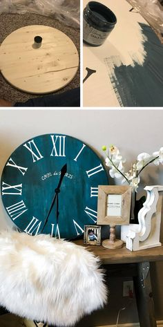 """DIY Wall Clock Ideas – The thinker William Penn when famously stated, """"Time is what we desire most but what we make use of worst. Read MoreDIY Wall Clock Ideas that will Give Your Interior a Unique Look Diy Wall Decor, Diy Home Decor, Wall Decorations, Homemade Clocks, Diy Clock, Clock Ideas, Diy Wall Clocks, Wood Clocks, How To Make Diy"""