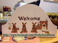 Welcome sign hand painting