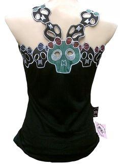 Rockabilly Rockabilly Punk Rock Baby Cute Skull Girls Tank Top Tee - Tops