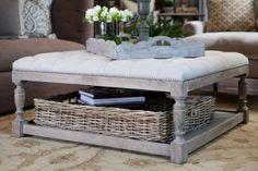 Now that's an idea - an ottoman/coffee table combo.