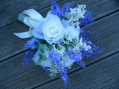 SILK Lavender bouquets with Roses and  by Keepsakebouquets on Etsy, $60.00