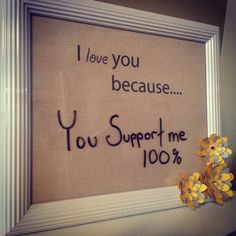 An easy DIY project to make love notes using a photo frame and dry erase markers!