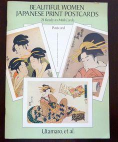 Vintage Japanese Print Postcards - Beautiful Women - 24 Ready to Mail Cards - Utamaro et al.