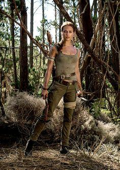 Alicia Vikander as Lara Croft in Tomb Raider 2018
