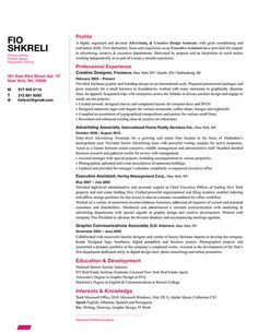 Fio Shkreli - Resume Design Sample    http://bespokeresumedesign.com/