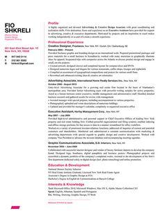 Fio Shkreli - Resume Design Sample    http://bespokeresumedesign.com/