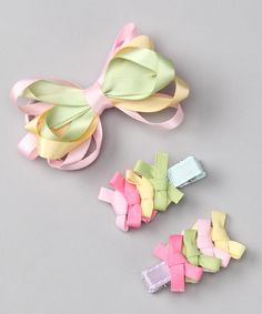 love the little bow clips - could easily make those!