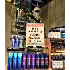 We're feeling the Christmas spirit! Buy 3 Bumble and Bumble travel products get 1 FREE! Can we say stocking stuffers!? #christmaslove #happy #savings #stockingstuffers #christmas2016