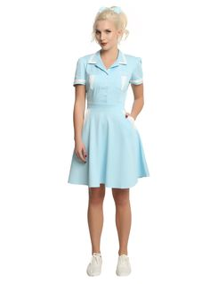 Twin Peaks Double R Diner Waitress Cosplay Dress,
