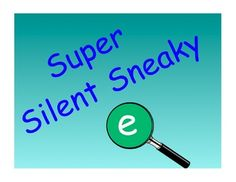 The Sneaky e SMART Board activities I created!