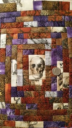 String Skull Quilt, Studio Juju Quilts.  Something quilted this way comes.