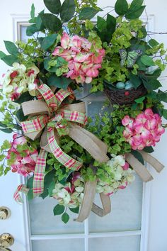 Spring Wreath by HangingTouches on Etsy, $174.00