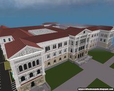 Replica Minecraft, University Literary Building, University of Deusto, Bilbao, Spain. Minecraft Project