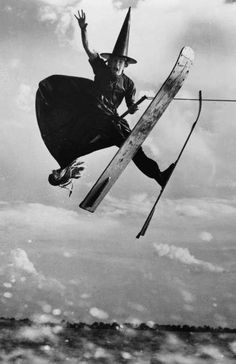 Alfredo Mendoza, water ski champion and part-time witch, 1953.