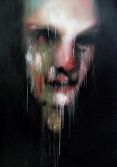 Marco Rea spray cans on advertising poster (I think it gives it that Francis Bacon look). A Level Art, Arte Horror, Creepy Art, Cool Paintings, Drawing People, Portrait Art, Dark Art, Love Art, Art Inspo