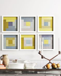~tutorial ~ Framed silk-taffeta quilt squares at Martha Stewart