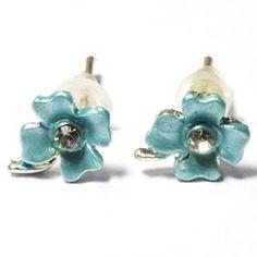 Earring Flower Zeeblauw kids
