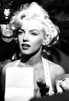 Marilyn at Grauman's Chinese Theatre June 26, 1953.