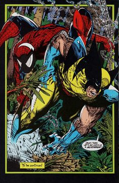 "Spider-Man & Wolverine by Todd McFarlane - ""Okay, then let's go catch us a murderer!"""