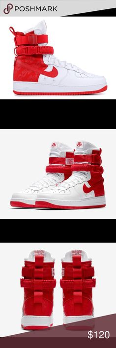 Nike air force 1 red white size 105 low tops never worn new