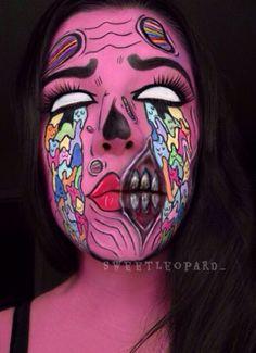 Face Paint Makeup, Sfx Makeup, Creative Makeup, Face Art, Body Painting, October, Halloween, Bodypainting, Body Paint