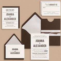 Paper Source Playbill Wedding Invitations