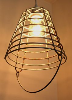 Bucket Lighting by FlownTheCoop on Etsy, $39.00