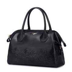 Nucelle - Genuine Leather Black Handbag | bagz.co.uk