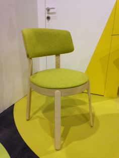 Green was a big colour at this year show #contractfurniture #chairs #milan