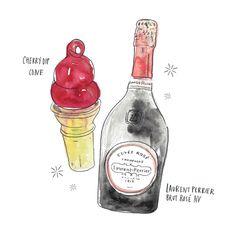 8 Mister Softee rosé pairings. June Letters for Vanity Fair