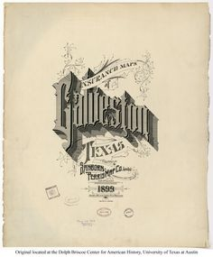 Sanborn Insurance map - Texas - GALVESTON - 1899