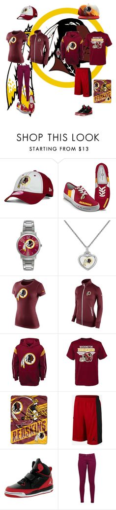 """Washington Redskins"" by jenabbyreid on Polyvore featuring New Era, The Bradford Exchange, Game Time, NIKE, The Northwest Company and Great Plains"