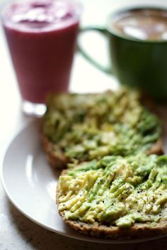 Avocado toast w sea salt and freshly ground pepper. Any way to get avocado in my mouth as fast as possible.