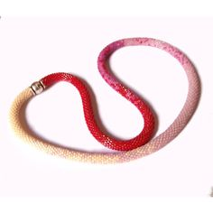 """Bracelet or necklace Cherry modern newchic Summer 2017, Length 19,68""""... (€66) ❤ liked on Polyvore featuring jewelry, necklaces, beads jewellery, beading jewelry, magnetic bead necklace, crochet bead necklace and beaded necklaces"""
