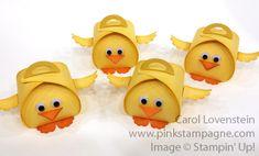 Chicks Man, Chicks Curvy Keepsakes Box Thinlits CAS'd from Kim Ransom Carol Lovenstein Stampin' Up! 3-D Idea