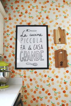 Try this DIY hand stamped technique for a unique statement wall. A great tutorial from @Elsie Larson of A Beautiful Mess.