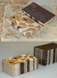 Amazing Laser Etched Business Card Design