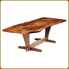 Myrtlewood Slab Dining Table - mcfdesign.com