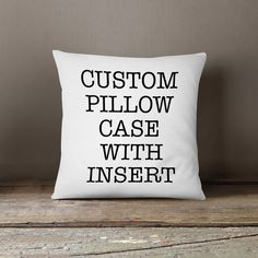 Throw pillow with insert personalized custom cushion pillow