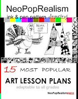 Art Lesson Plans: NeoPopRealism Ink Pen Drawing: GRADES 3-5, 6-8 and up