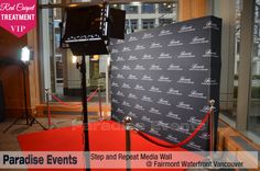 #StepandRepeat #RedCarpetBackdrop #VIP Treatment for the #BlackTieGala by www.ParadiseEvents.com/red-carpet-backdrop