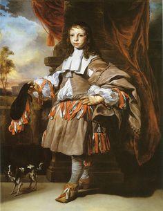 Jan van Noordt - Portrait of a Boy - 1665 - Petticoat breeches - Wikipedia, the…