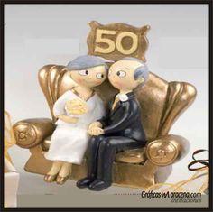 Novios tarta 50 aniversario