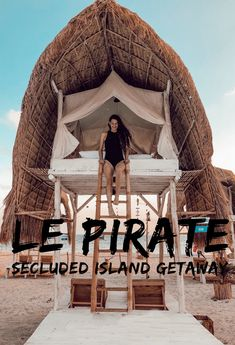 Le Pirate: Secluded Island Getaway – Sticks to City Slicks Scuba Shop, Seaside Restaurant, Bamboo House Design, Small Coffee Shop, Pirate Island, Sea Activities, Glamping, Cool Tents, Beach Cottage Style