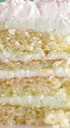 Key Lime Cream Cake. I want to try making a layered sponge cake with sweetened lime greek yogurt cream cheese