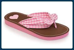Trachten Damen FlipFlops - KAROS - rosa, Größe 36 - Clogs für frauen (*Partner-Link)
